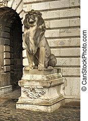 Buda castle (Royal Palace) inner courtyard, Budapest, Hungary