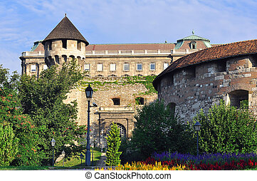Buda castle - Detail of the 'Buda Castle' with the...