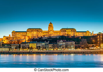 Buda Castle (Budavari Palota), historical castle and palace complex of the Hungarian kings in Budapest, Hungary.