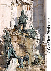 Buda castle Matthias fountain landmark Budapest
