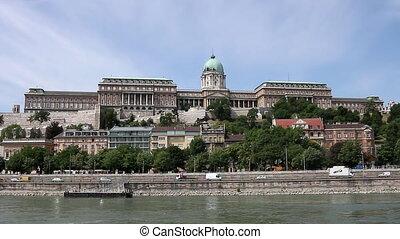 Buda castle on Danube river