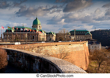 Buda Castle or the Royal Palace in the city of Budapest, Hungary