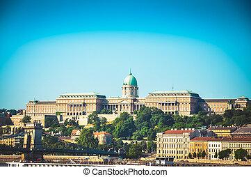 Buda Castle Royal Palace in Budapest city.