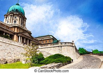 Buda castle view in Budapest, Hungary - Buda castle close...