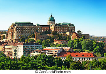 Buda Castle. - View of Buda Castle from Gellert Hill.