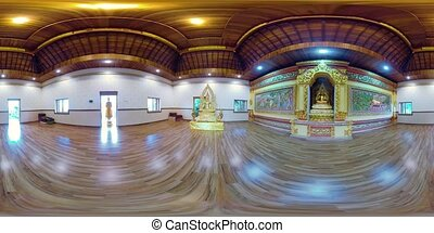 Buda statue in the temple island of Bali vr360 - vr360...