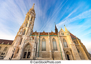 Buda temple church of Matthias. Budapest Castle District. -...