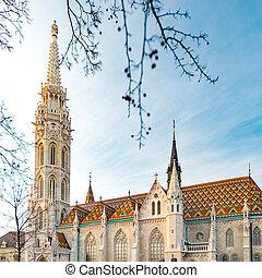 Buda temple church of Matthias. Budapest Castle District.