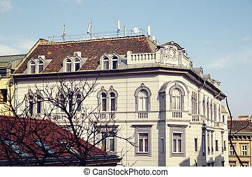 budapest, apartamento, típico