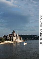 Budapest bankside scene