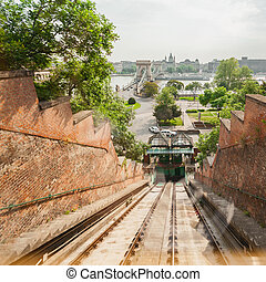 Budapest Castle Hill Funicular. Hungary