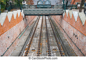 Budapest Castle Hill Funicular in Budapest Hungary