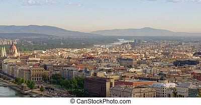 Budapest city, aerial view. Hungary