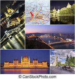Budapest city Collage