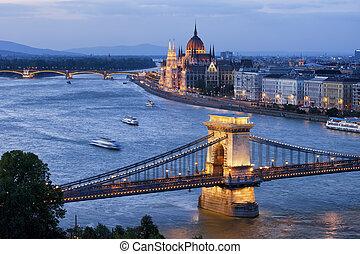 Budapest Cityscape at Dusk