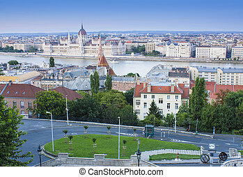 Budapest cityscape in Hungary, general view