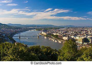 Budapest cityscape in Hungary, summer view