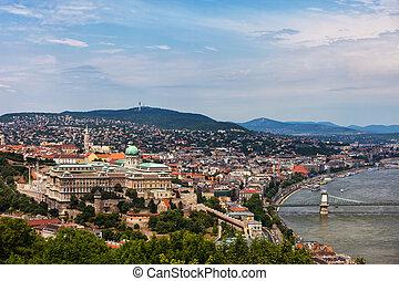 Budapest Cityscape With Buda Castle - Budapest, capital city...