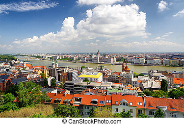 Budapest from Buda castle hill, Hungary
