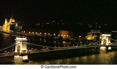 Budapest - Hungarian parliament and chain bridge