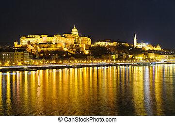 Budapest, Hungary, at night