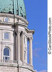 Buda Castle - Budapest, Hungary, Buda Castle dome detail and...