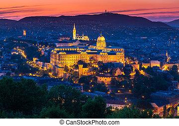 Budapest, Hungary - Budapest Castle at Sunset