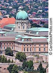 Buda Castle - Budapest, Hungary - cityscape with Buda...