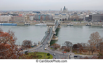 Old Town and the Danube in Budapest, The World Heritage Site in Hungary