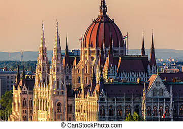 Budapest, Hungary - The Hungarian Parliament Building in...