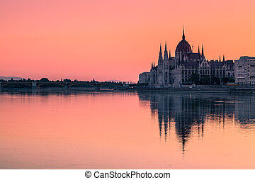 Budapest, Hungary - The Parliament Building in Budapest at...