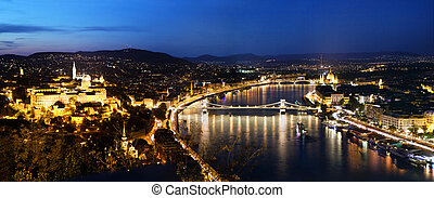 Budapest, Hungary. View from Gellert Hill - Budapest,...