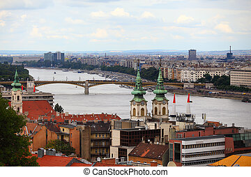 View of the Danube River and the Budapest skyline