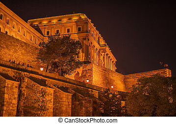 Budapest, Hungary: Walls of Buda Castle