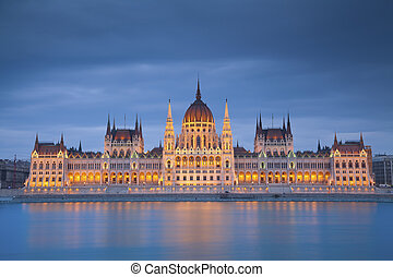 Budapest. - Image of hungarian parliament in Budapest during...