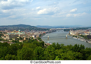 Budapest panoramic view - Panoramic view of Budapest...