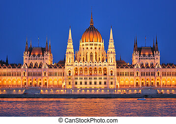 Budapest Parliament at night