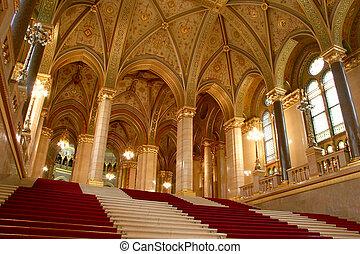 Budapest, parliament - Budapest, internal view of parliament
