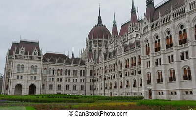 """Budapest Parliament Building, Hungary, Timelapse, zoom in, 4k"""