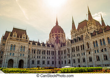 Budapest, parliament - Hungarian Parliament in Budapest....