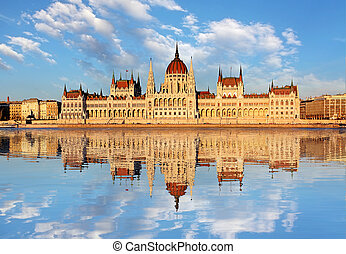 Budapest - Parliament with Danube, Hungary