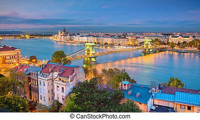 Budapest. - Panoramic cityscape image of Budapest, capital...