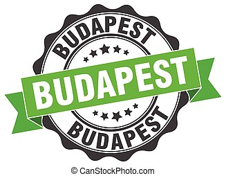 budapest, redondo, cinta, sello