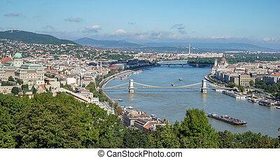 budapest, rivière danube, vue