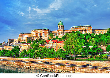 Budapest Royal Castle at morning time.