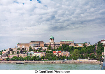 Budapest Royal Castle. View of the palace on the other side of the river. Hungary