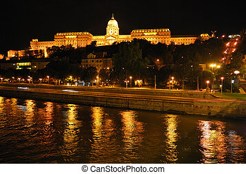 Budapest. Royal Palace at night