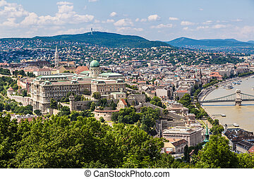 Budapest Royal Palace morning view. - View of Buda side of...