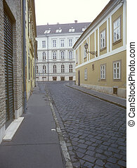 budapest., rua, antigas