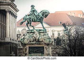 budapest., savoy's, eugene, monumento